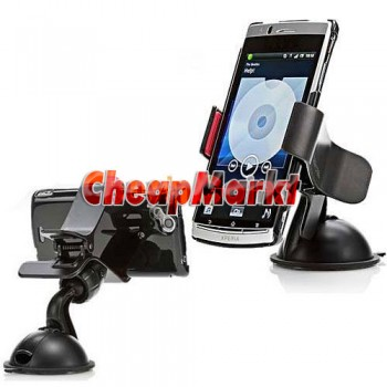 Universal Car Windshield Mount Holder Bracket for iPhone 4 4S HTC Smartphone